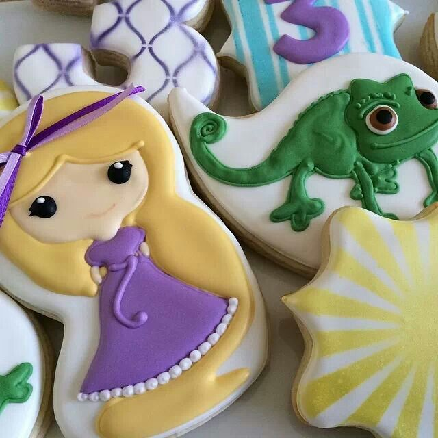Image result for rapunzel decorated cookies funko