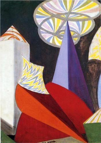 Giacomo Balla (Italian:1871 – 1958)   Sketch for the ballet by Igor Stravinsky: Fireworks (Feu d'artifice)