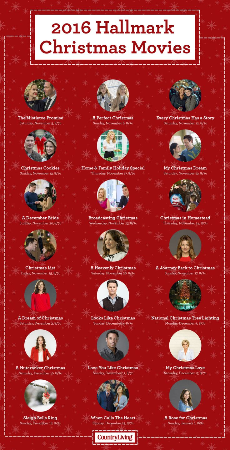 Here's your complete schedule for all the 2016 Hallmark Christmas movies.