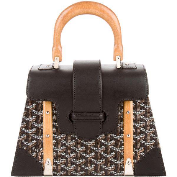 Pre-owned Goyard Saigon PM ($3,850) ❤ liked on Polyvore featuring bags, handbags, brown, goyard, foldover purse, man bag, hand bags and preowned handbags