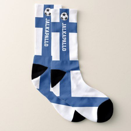 Finland Flag Jalkapallo and Your Text Socks - tap to personalize and get yours