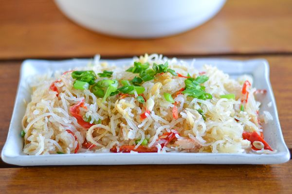 Vermicelli and Crab Meat Stir-fry