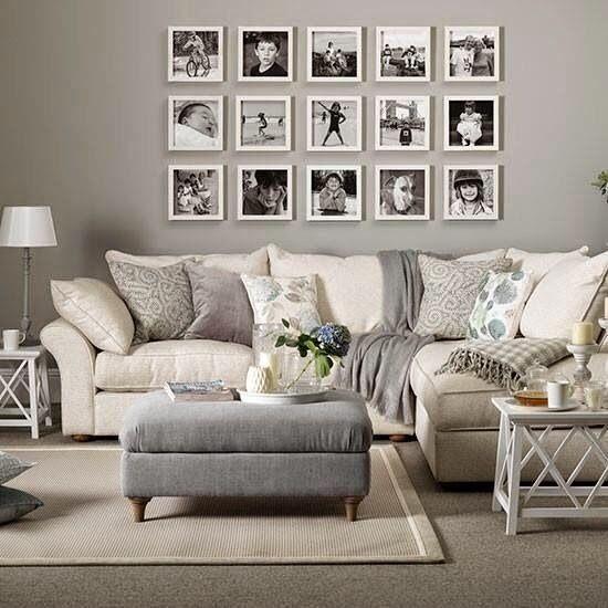 10 ideas para decorar con cuadros sobre el sofá
