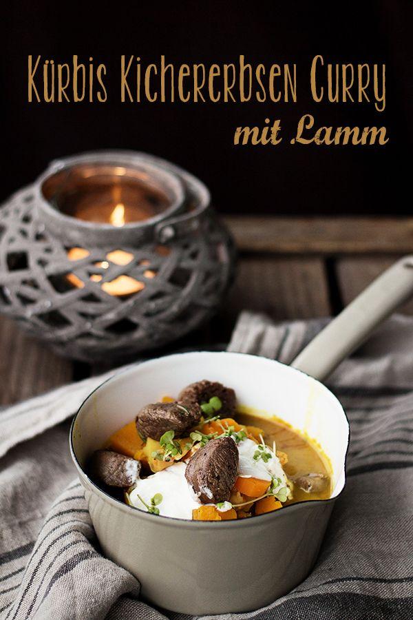 Kürbis Kichererbsen Curry mit Lamm.   Rezept: http://seelenschmeichelei.de/ein-gestandnis-und-ein-kurbis/