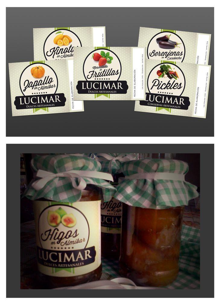 Etiquetas para conservas artesanales. Labels for artisanal preserves.
