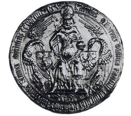 Majestátní pečeť Karla IV. jako římského císaře a českého krále, 1377,