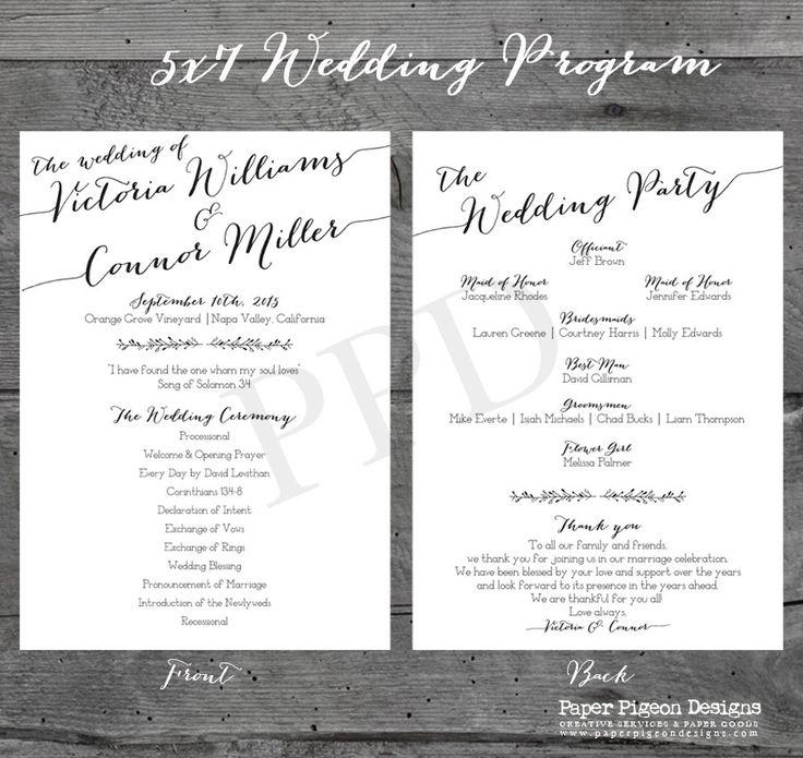 The 25+ best Modern wedding program ideas on Pinterest | Wedding ...