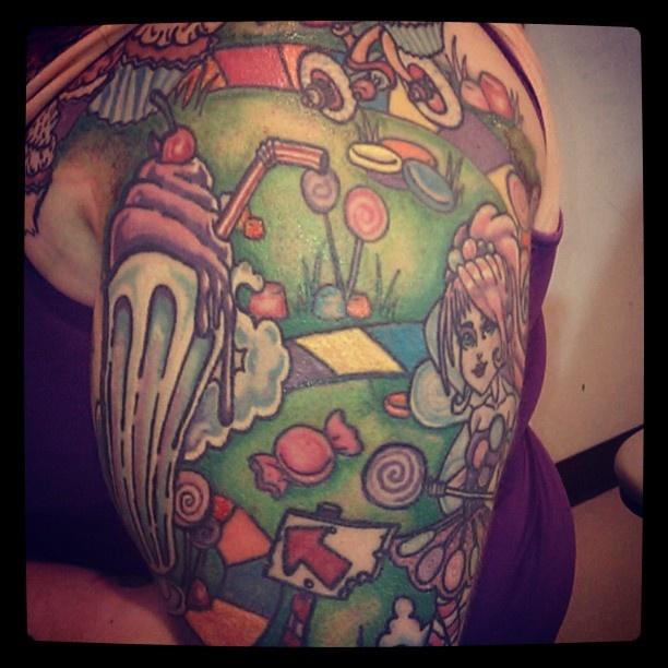 christis candyland tattoo tattoos pinterest