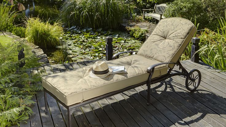 Part of our extensive range, the Hartman Amalfi Lounger in Bronze with Floral Cushion is available for FREE delivery on Garden4Less orders over £25!