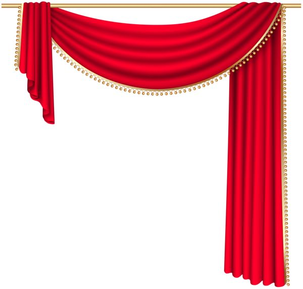 Red Curtain Transparent PNG Clip Art Image