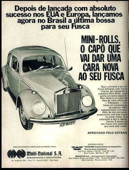 Anúncio Multi National S. A. - 1973