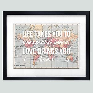 Love Quote Map Print - best valentine's gifts for him