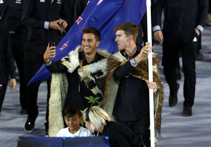 The athletes left the internet a little parched on Saturday when they carried New Zealand's flag for the 2016 Rio Olympic Games opening ceremony.