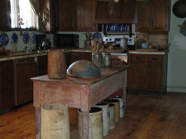 Older Primitive Kitchen Island Primitive Kitchens On Pinterest