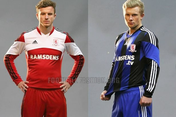Middlesbrough FC 2013/14 adidas Home and Away Kits