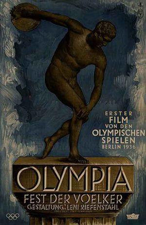 """DVD DOC 120 II - Olimpia (1938) Alemaña. Dir: Leni Riefenstahl. Documental. Nazismo. Xogos Olímpicos. Sinopse: mítico documental sobre as Olimpíadas de Berlin que consta de dous partes. A primeira é """"La fiesta de los Pueblos"""" (que conecta coas súas orixes na Antiguedad a través do traslado do facho). Destaca a carreira do atleta negro Jesse Owens que humillou aos organizadores locais. Na segunda parte preséntanse outras disciplinas como as ecuestres, natación e a ximnasia."""