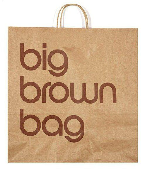 Massimo Vignelli _ big brown bag bloomingdale's