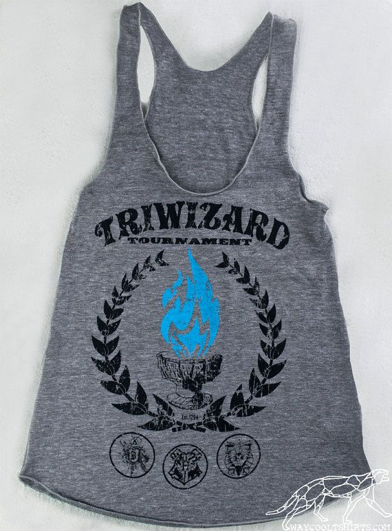 RACERBACK HARRY POTTER TriWizard Tournament - Blue Flames of the Goblet of Fire Spit out Harry Potter's Name on Etsy, $22.00