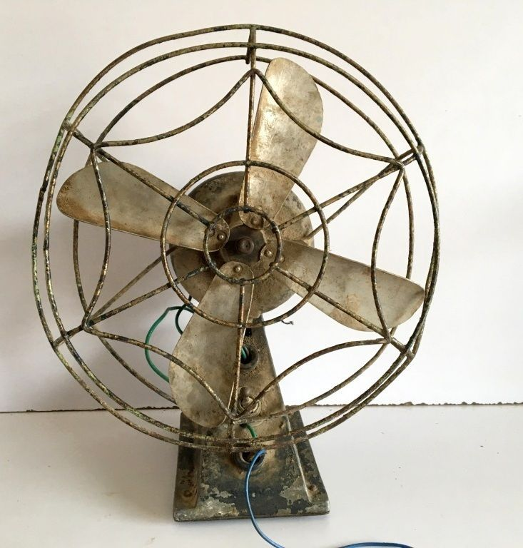 Vintage Old Rare Original Collectible Portable Electric Small Table Fan