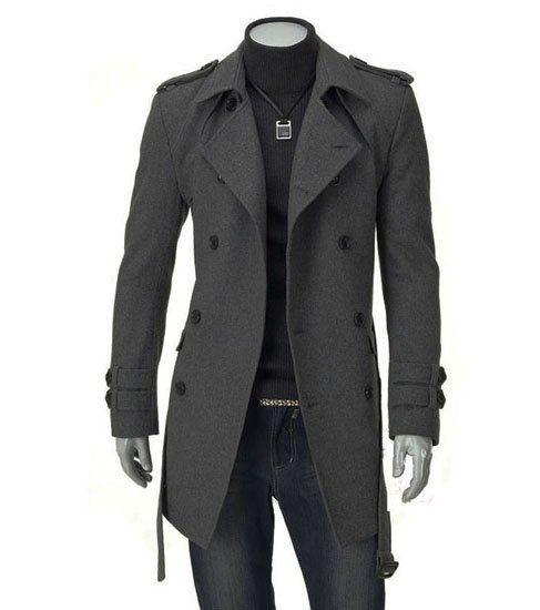 Mens Coats and Jackets Fashion Slim Casual Mens Jackets Men Long Coat