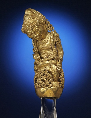 GOLD KERIS HILT Bali, Indonesia; c. late 1800s-early 1900s American Museum of Natural History, Anthropology
