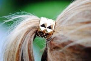 Studded Ponytail clasp