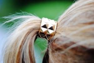 Studded Ponytail Clasp.Hair Piece, Studs Ponytail, Hair Clips, Long Hair, Hair Ties, Hair Accessories, Ponies Tail, Studs Hair, Ponytail Clasp