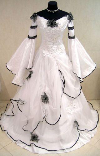 MEDIEVAL-WEDDING-DRESS-VICTORIAN-GOTH-RENAISSANCE-S-M-6-8-10-LARP-COSTUME-WICCA