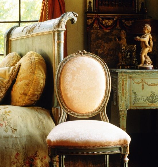 """French - """"decorate using antiques for charm, character and heirloom quality"""" Carolyn Williams, Antiques Dealer."""