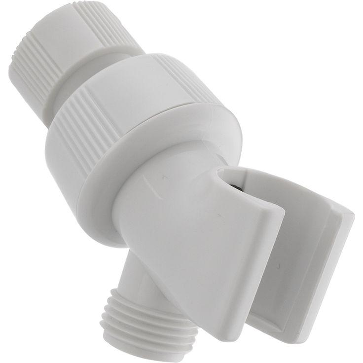 Delta White Adjustable Shower Arm Mount for Handheld Shower 561312