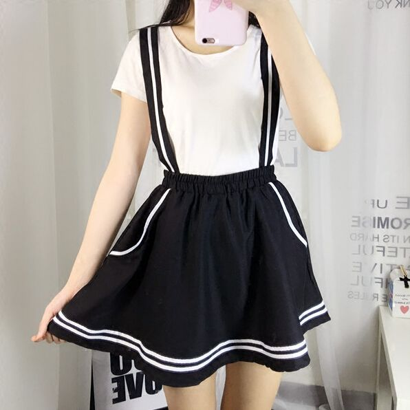 """SponsorshipReview&AffiliateProgramopening! Material:cotton  Color:dark+blue,black,white,  Size:S,M,L, Size+S: Waist:67cm/26.13"""",skirt+length:37cm/14.43"""", Size+M: Waist:70cm/27.3"""",skirt+length:38cm/14.82"""", Size+L: Waist:74cm/28.86"""",skirt+length:39cm/15.21"""",  Tips:+ *Please+double+check+above+size+and+consider+your+measurements..."""
