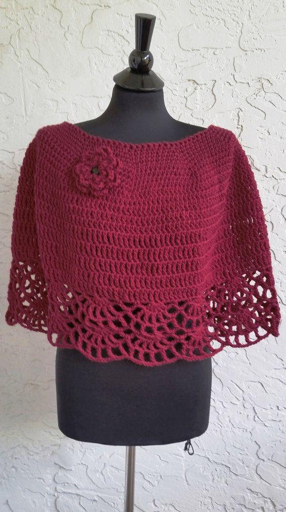 Hand Crochet Capelet Women Shawl Women Poncho Evening Wrap