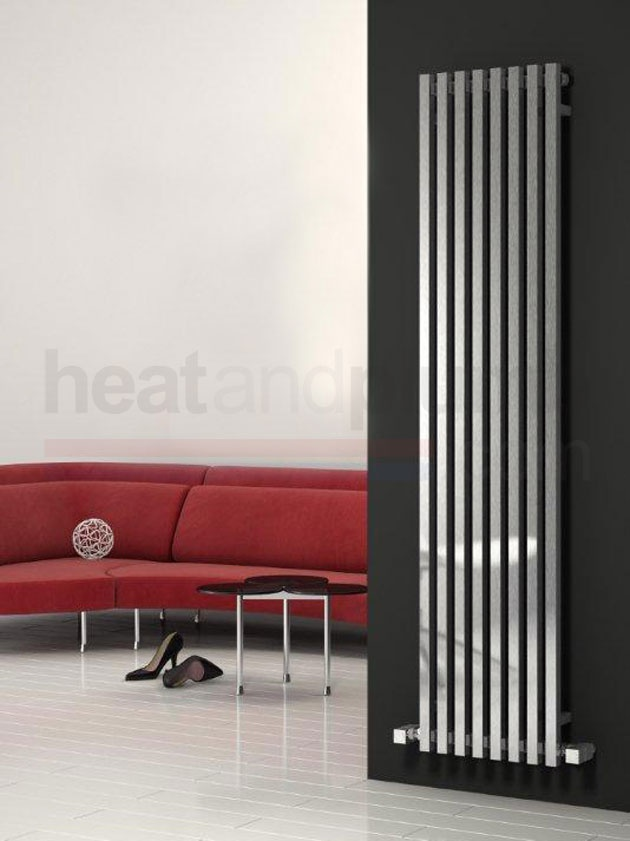 Reina Cascia Tubular Vertical Radiator 1800mm High x 400mm Wide ref, RND-CSC4018B Visit @ http://heatandplumb.com