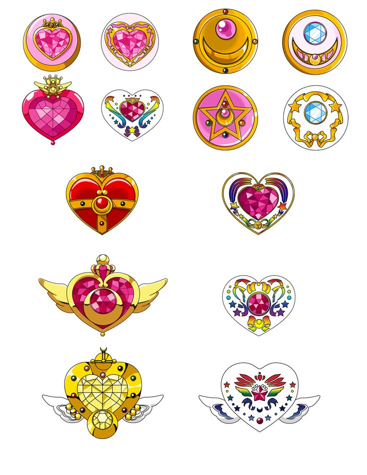 sailor moon broche vector - Buscar con Google