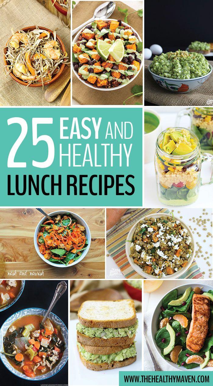 25 einfache und gesunde Rezepte für das Mittagessen, die einfach verpackt und zur Arbeit gebracht werden können oder …   – the healthy maven.