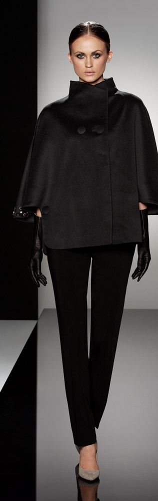 Pure wool cape with hand embroidered details by Cinzia Rocca