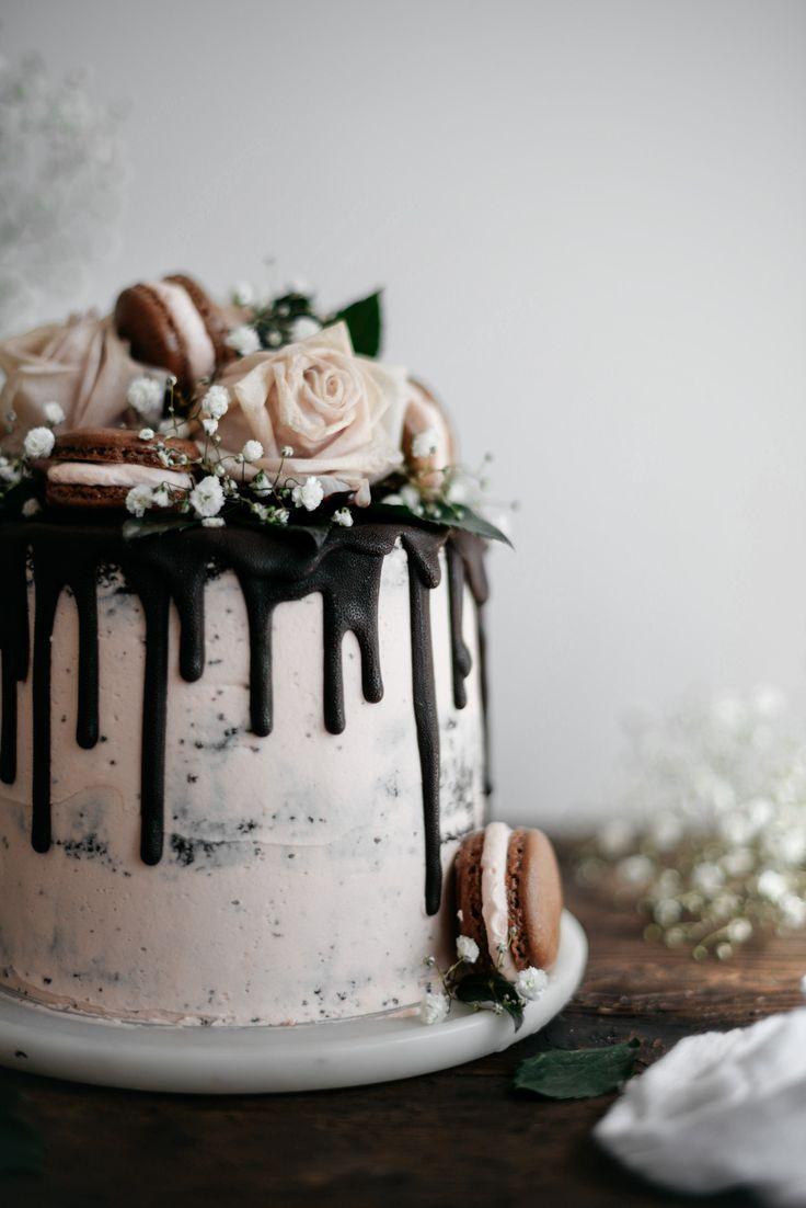 Dark Chocolate and Raspberry Cake with Earl Grey Swiss Meringue Buttercream recipe. Happy Valentines Day!!