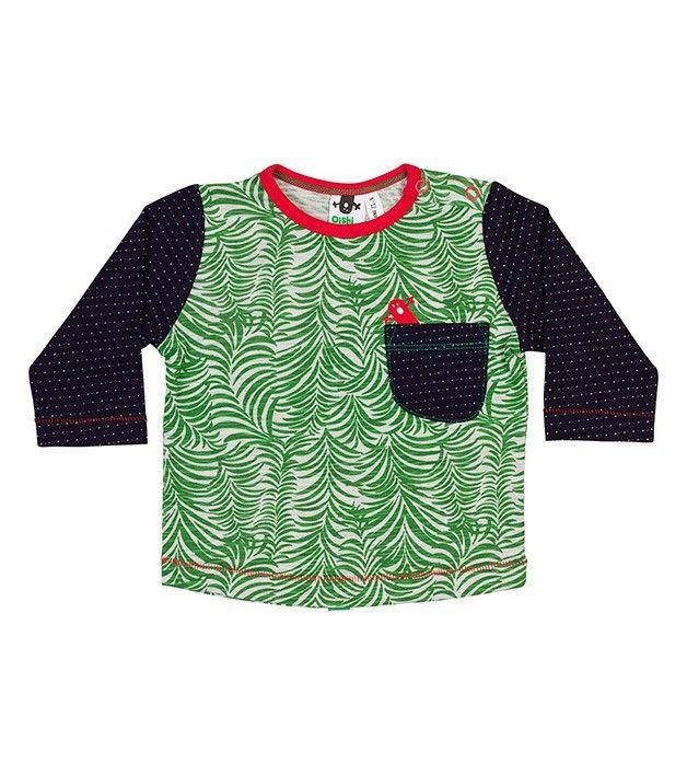 Foresty LS Pocket T Shirt, Oishi-m Clothing for kids, circa 2015, www.oishi-m.com