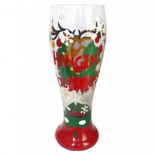 Hangin for the Holidays Pilsner Glass