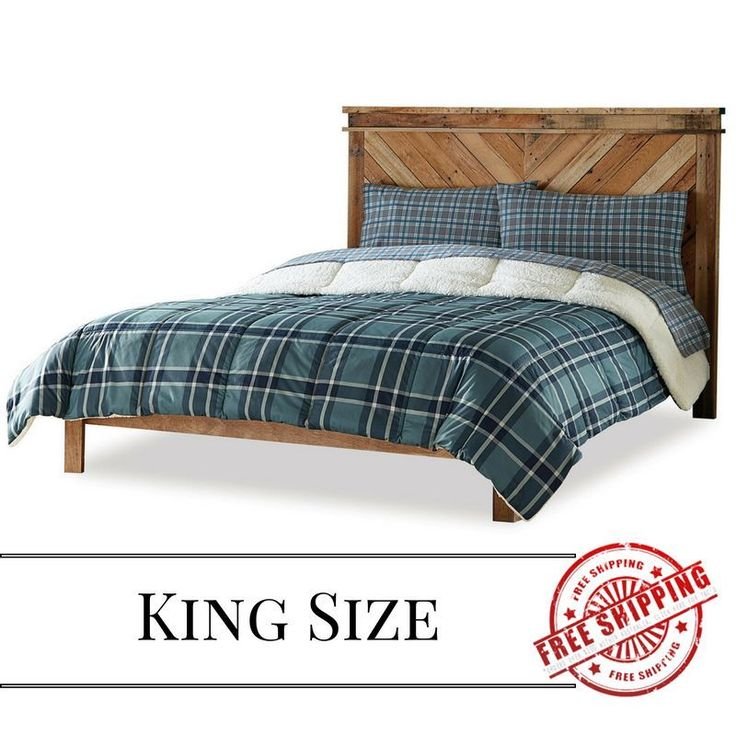 Down Alternative Fleece Comforter Soft Cozy Warm Casual Alternate Blue King Teen