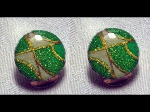 Cabochon con Brillantini e Fimo Liquid | Polymer Clay Tutorial | DIY Cabochons Fimo Liquid Glitters - YouTube
