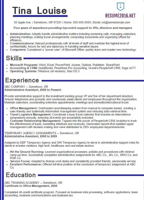 exaple resume