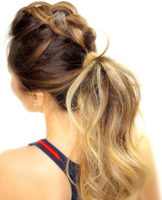 Sport a braided mohawk this summer.