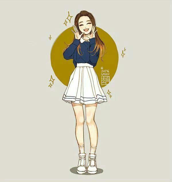 Red Velvet's Seulgi, the orange girl. Cr: as tagged #kpop