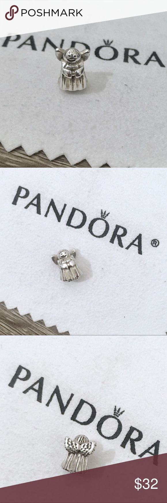 Pandora angel charm sterling silver angel of hope Authentic pandora charm. Pandora angel charm with textured angel wings. Sterling silver charm, stamped with 925 Ale on the bottom. *Price is for the charm only, does not include cloth or bracelet.* • Bundle to save! • No trades • No holds #Pandora charm, Pandora angel charm, angel Pandora charm, Pandora angel wings charm, Pandora Christmas angel, Christmas Pandora charm, Pandora Christmas charm, Pandora angel of hope Pandora Jewelry…