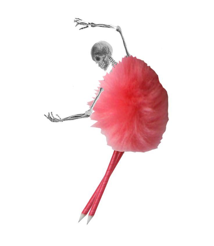 Ballerina skeleton by rnt616 #ballerinaskeleton #skeleton #ballerina #collages