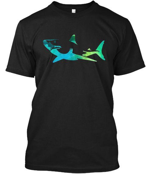 Week Of Shark Beach Shark T Shirt Black T-Shirt Front