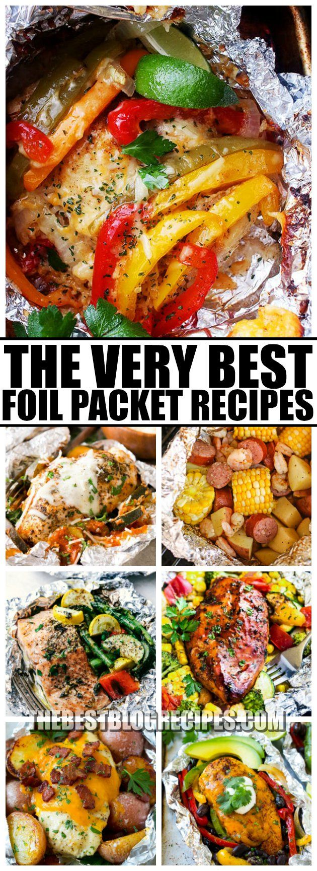 The Best Foil Packet Recipes are perfect for when you need an easy but delicious no hassle dinner! These recipes will absolutely be new family favorites! via @bestblogrecipes