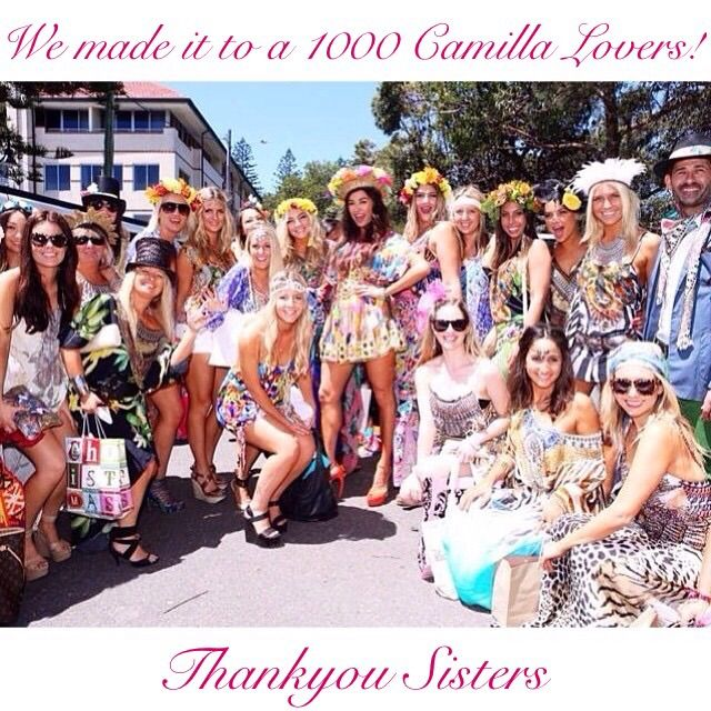 Over 1000 lovely peops on our facebook group 'Camilla Lovers Worldwide Buy Sell Chat' over at facebook