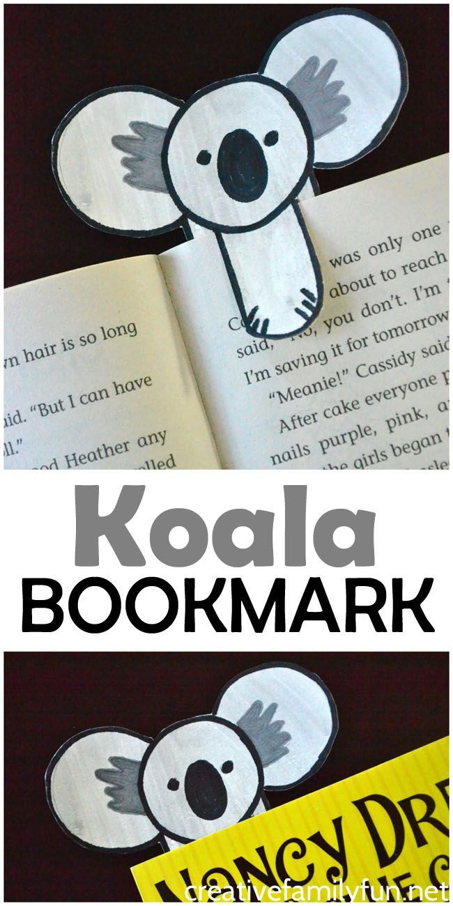 Make a fun koala bookmark with this easy step-by-step drawing tutorial.